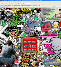 the Playground street/guerrilla art | web/graphic design | stickers/stencils/posters/paste up/photos/cut out/bla bla/music/oi oi
