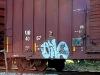 writing-on-train