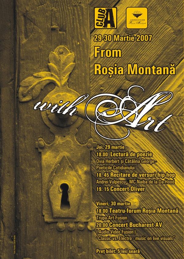 Afis Rosia Montana with ART