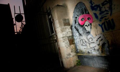 Banksy gorilla crossover