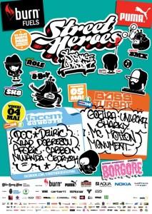 """afis """"Street Heroes Spring Break"""""""