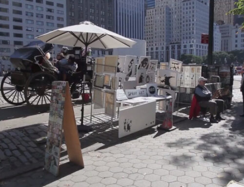 Banksy set up a stall selling 100% authentic original signed canvases. And no one knew!