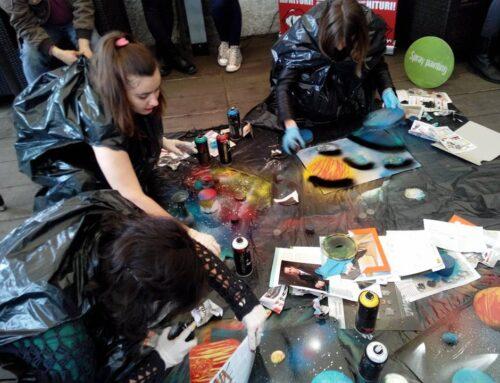 """""""Descopera lumea prin spray painting"""", un proiect unic in Romania pentru copiii cu dizabilitati"""